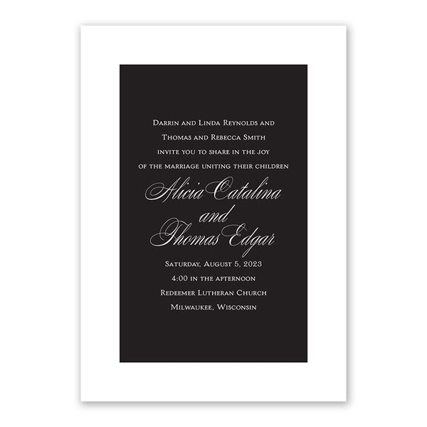 Simply Elegant Invitation