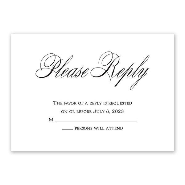 Simply Elegant Response Card