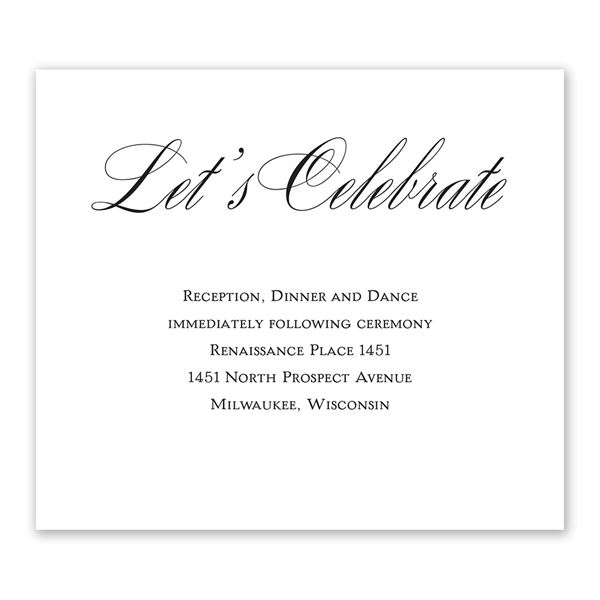 Simply Elegant Information Card