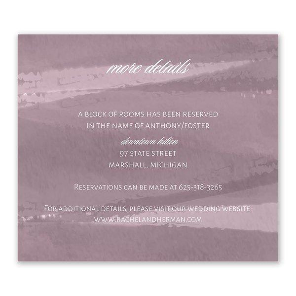 Brushstroke - Dusty Purple - Information Card