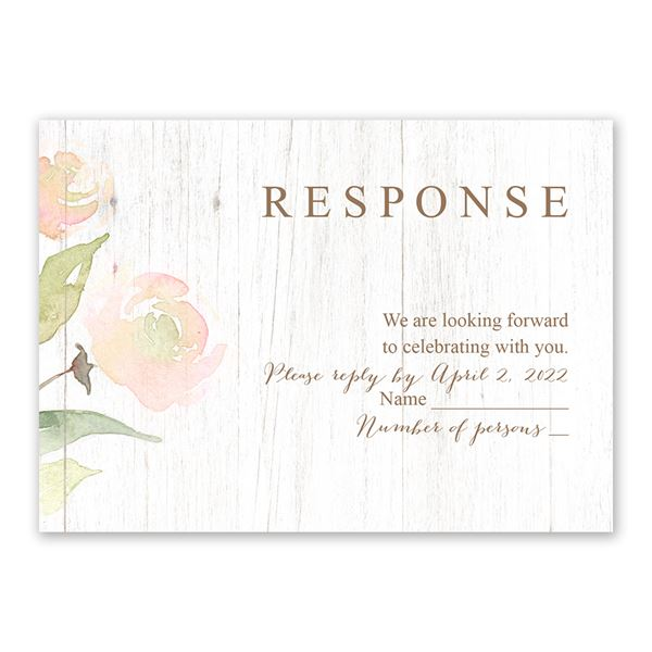 Fresh Floral Response Card