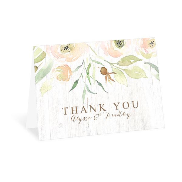 Fresh Floral Thank You Card
