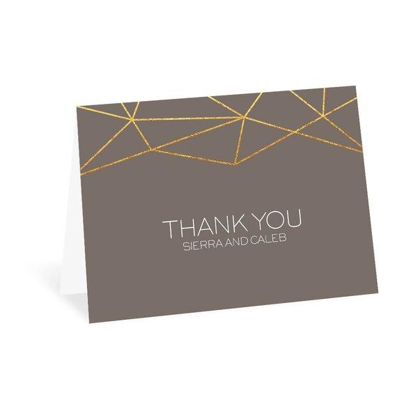 Modern Geo Thank You Card