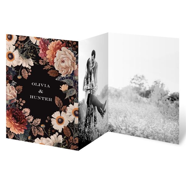 Lavish Floral Trifold Invitation