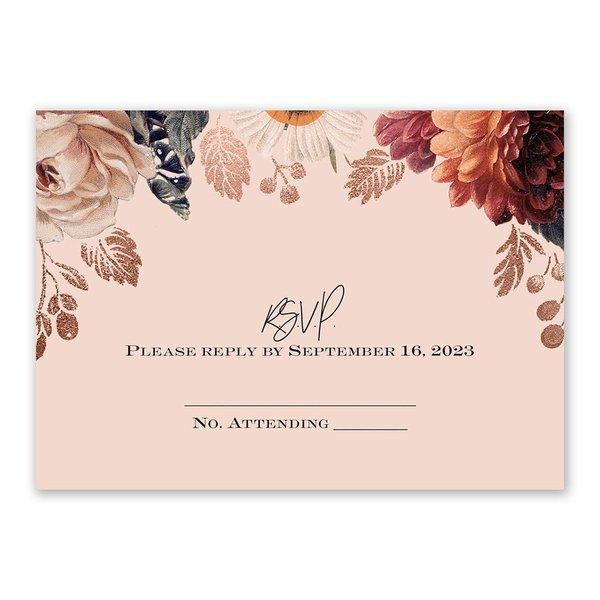 Lavish Floral Response Card