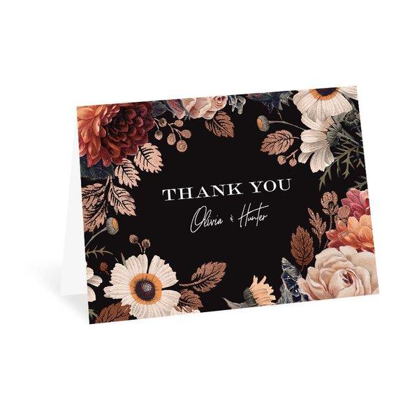 Lavish Floral Thank You Card