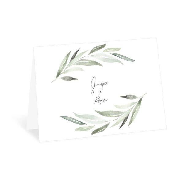 Serene Greenery Thank You Card