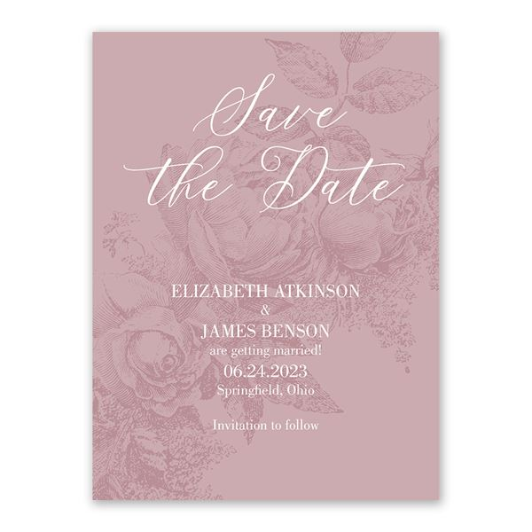 Garden Grace Save the Date Card
