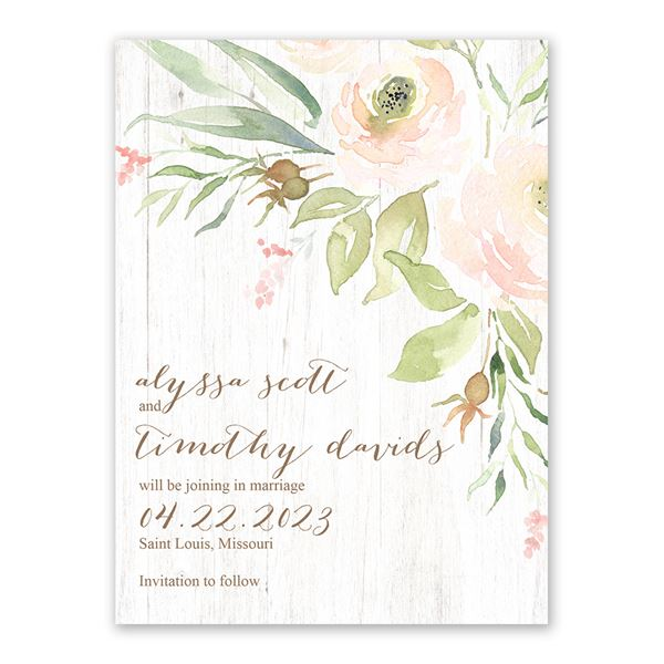 Fresh Floral Save the Date Card