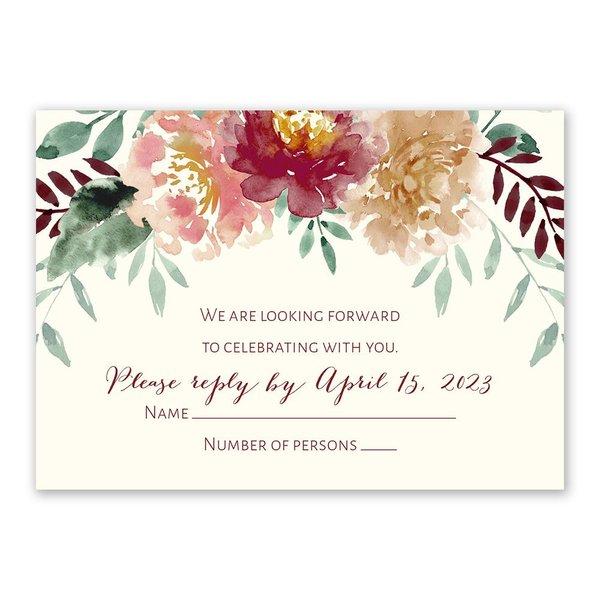 Splendid Blossom Response Card