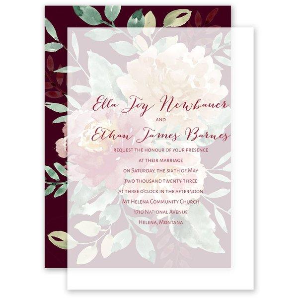 Splendid Blossom Layered Vellum Invitation