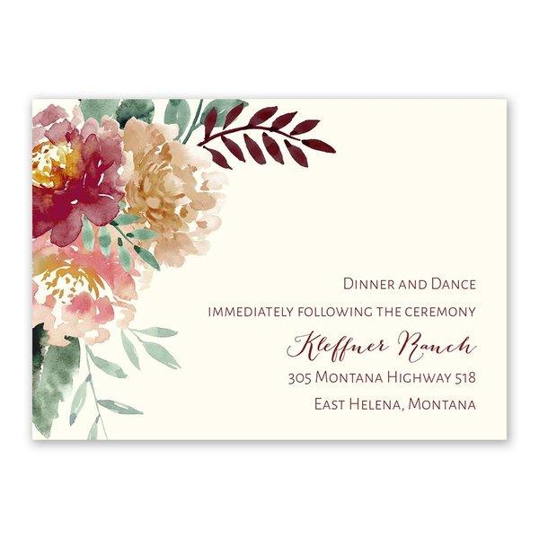 Splendid Blossom Reception Card