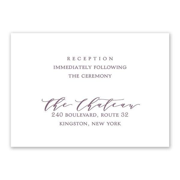 Photo Perfect Reception Card