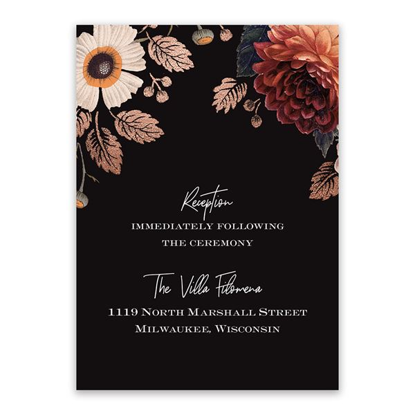 Abundant Blooms Reception Card