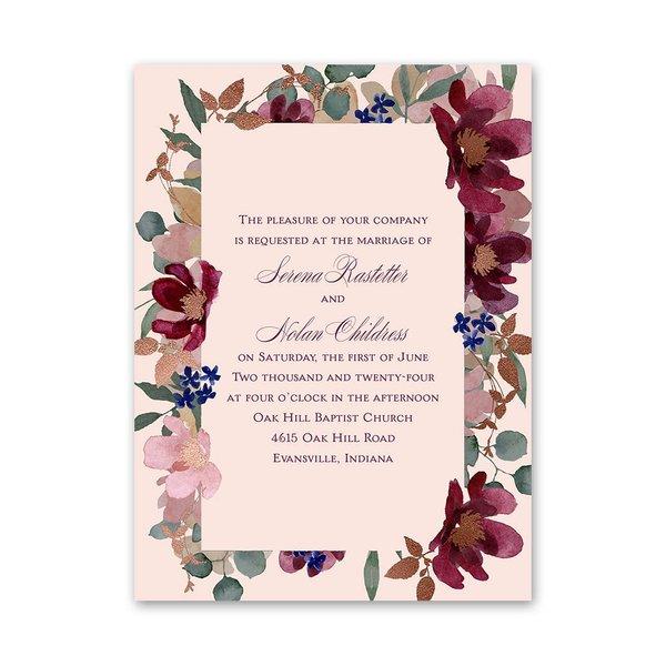 Lush Floral Petite Invitation