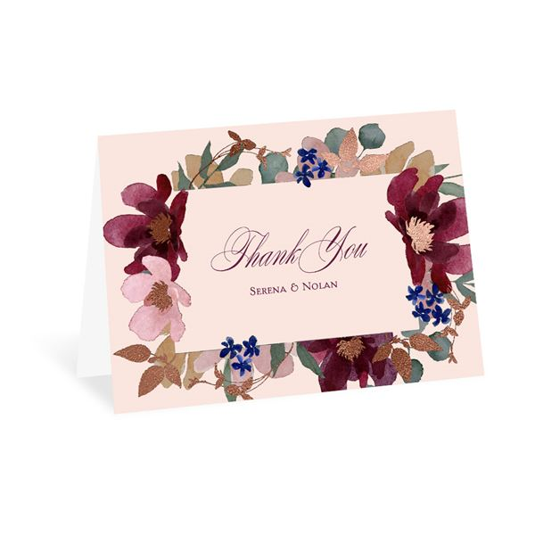 Lush Floral Thank You Card