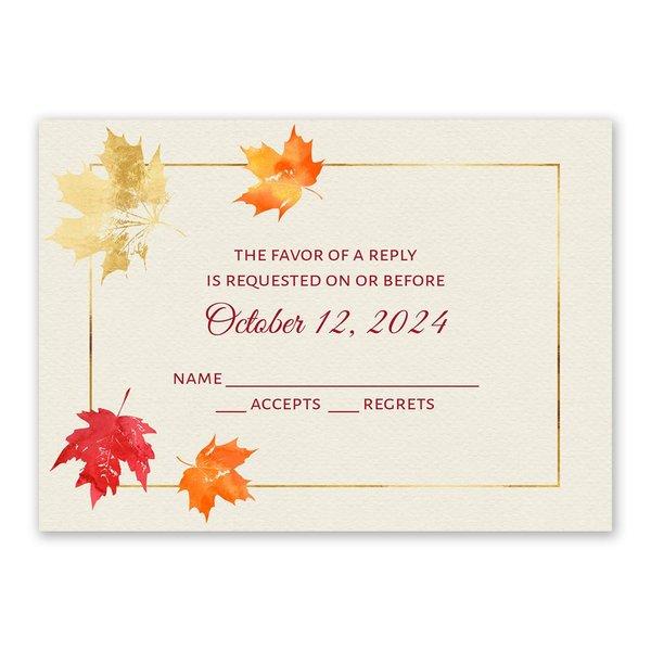 Gilded Leaves Response Card
