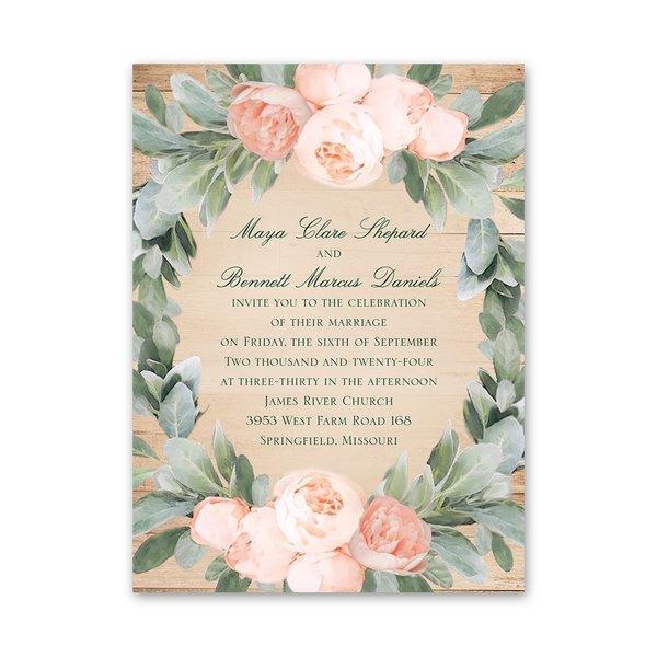 Blush Blooms Petite Invitation