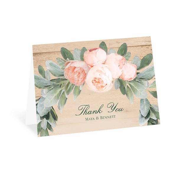 Blush Blooms Thank You Card
