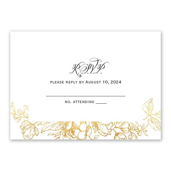 Floral Allure Response Card