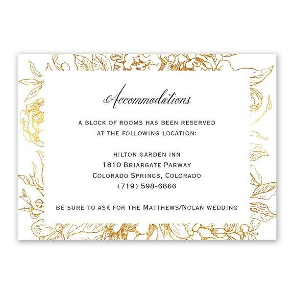 Floral Allure Information Card