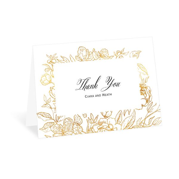 Floral Allure Thank You Card