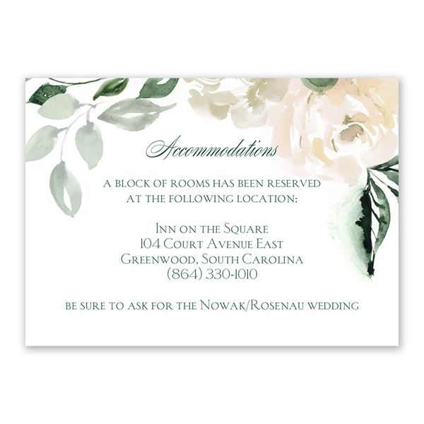 Rose Garden Information Card