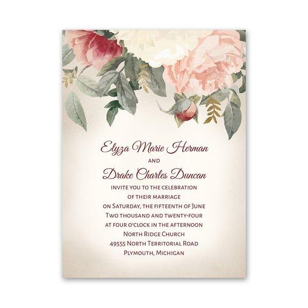 Blushing Blooms Petite Invitation