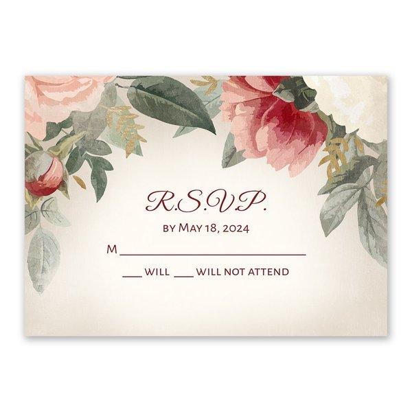 Blushing Blooms Response Card