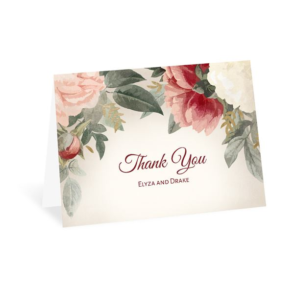 Blushing Blooms Thank You Card