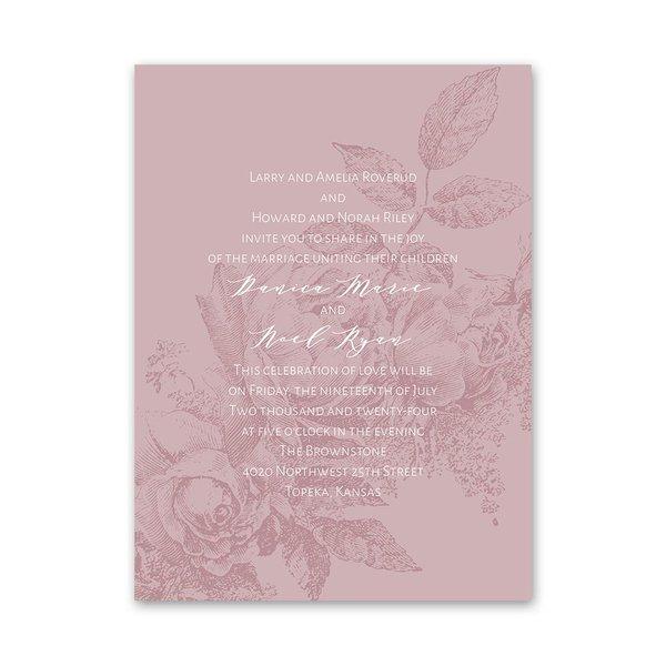 Floral Silhouette Petite Invitation