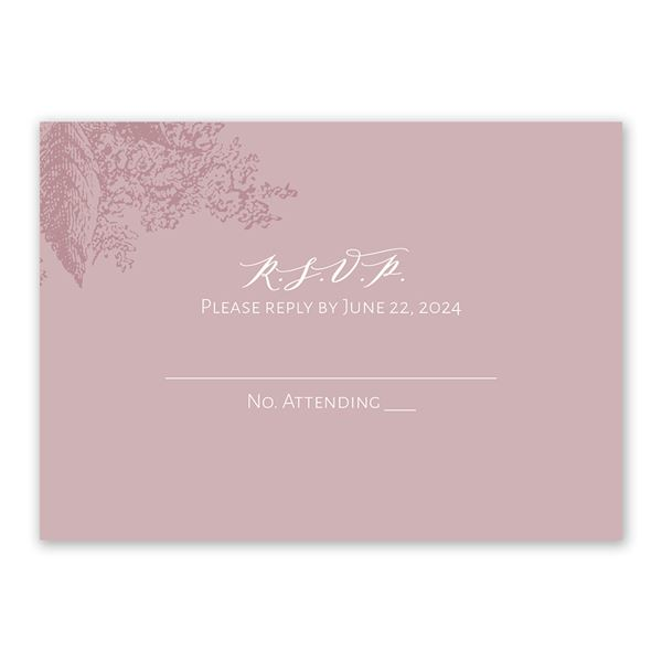 Floral Silhouette Response Card