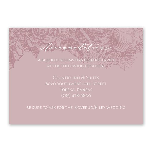 Floral Silhouette Information Card