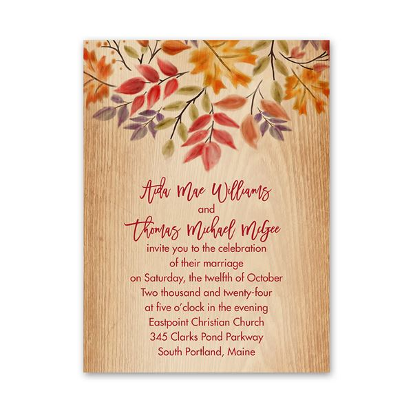 Fall Foliage Petite Invitation