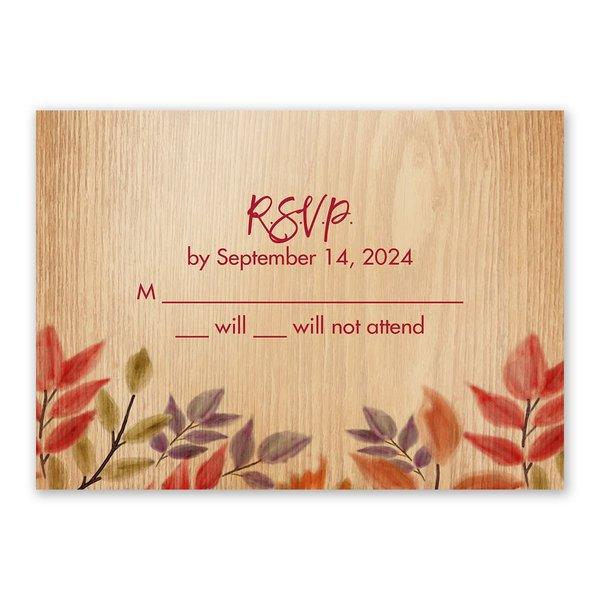 Fall Foliage Response Card