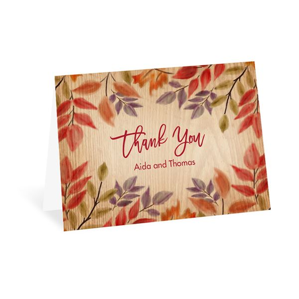Fall Foliage Thank You Card