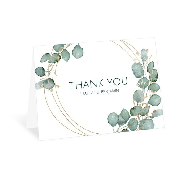 Lovely Greens Thank You Card
