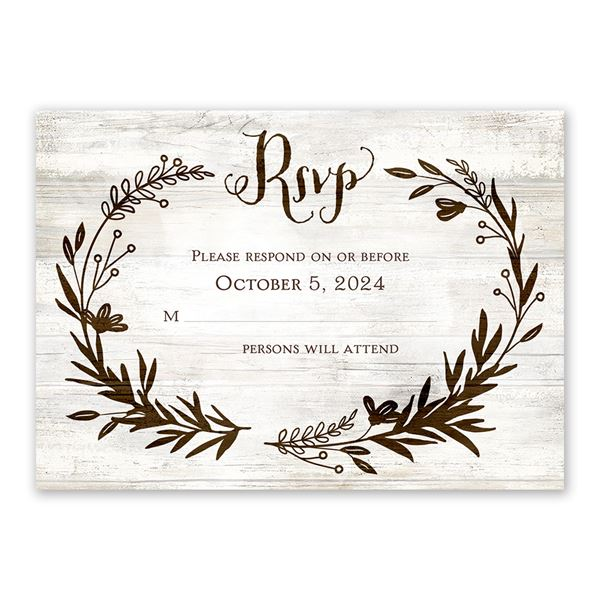 Rustic Fairy Tale Response Card