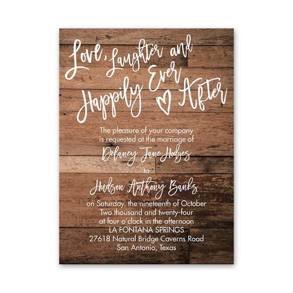 Happily Ever After Petite Invitation