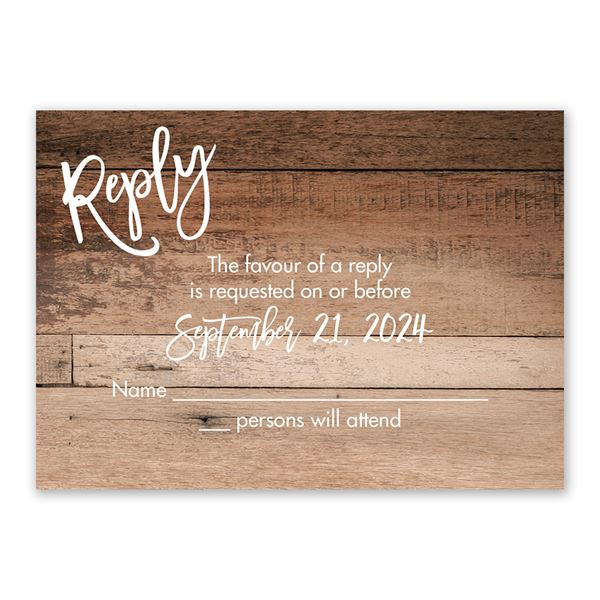 Happily Ever After Response Card