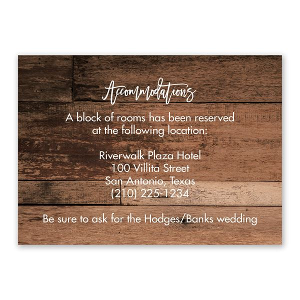 Happily Ever After Information Card