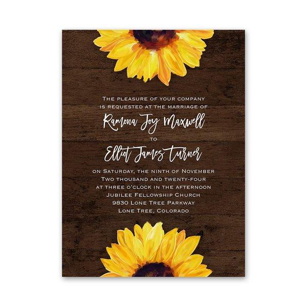 Sunflower Petite Invitation
