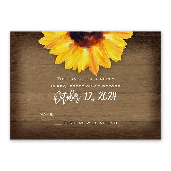 Sunflower Response Card