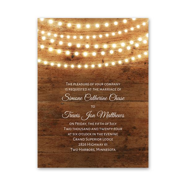 Country Glow Petite Invitation