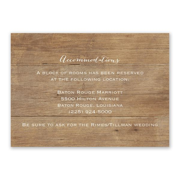 Woodgrain Photo Information Card
