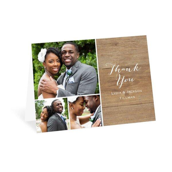 Woodgrain Photo Thank You Card