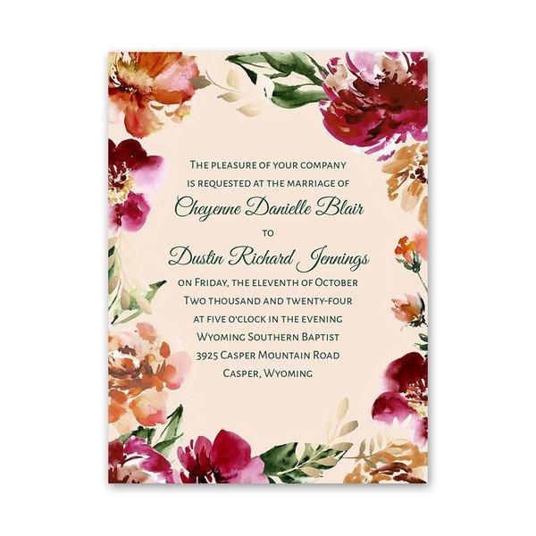 Floral Brushstrokes Petite Invitation