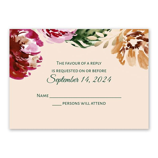 Floral Brushstrokes Response Card