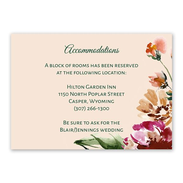 Floral Brushstrokes Information Card