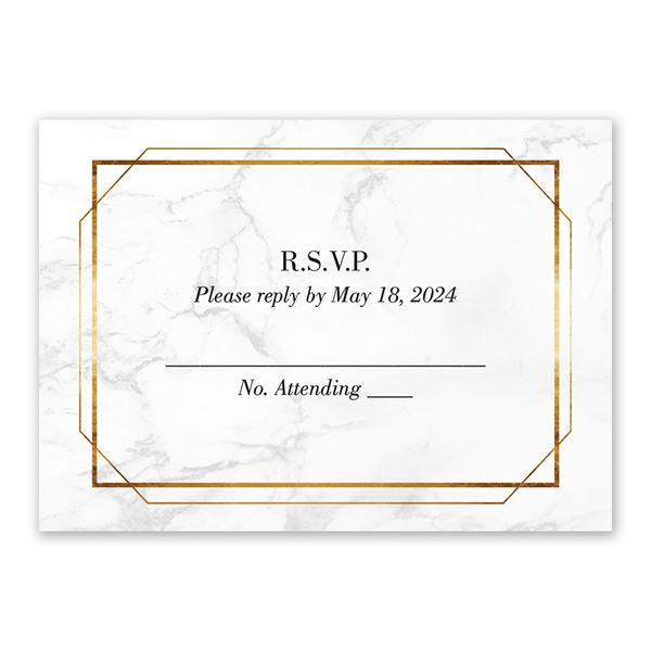 Gilded Marble Response Card